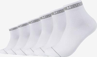 MUSTANG Kurzsocken 'Ethan' im 6er Pack in weiß, Produktansicht