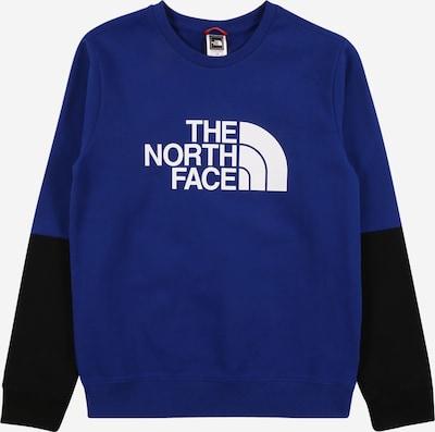THE NORTH FACE Sportsweatshirt in blau / schwarz / weiß, Produktansicht