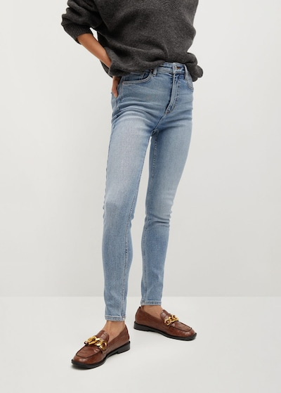 MANGO Jean 'Soho' en bleu clair, Vue avec modèle