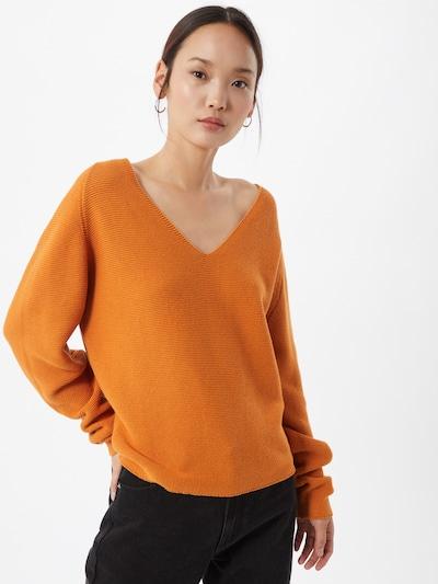minimum Pullover in orange, Modelansicht