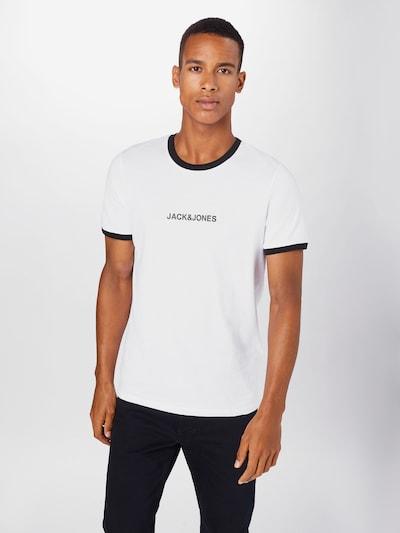 JACK & JONES Tričko 'Coring' - černá / bílá: Pohled zepředu