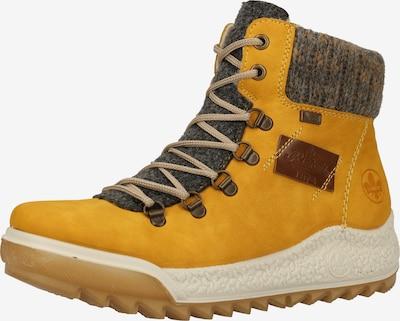 RIEKER Schnürstiefelette in gelb / grau, Produktansicht