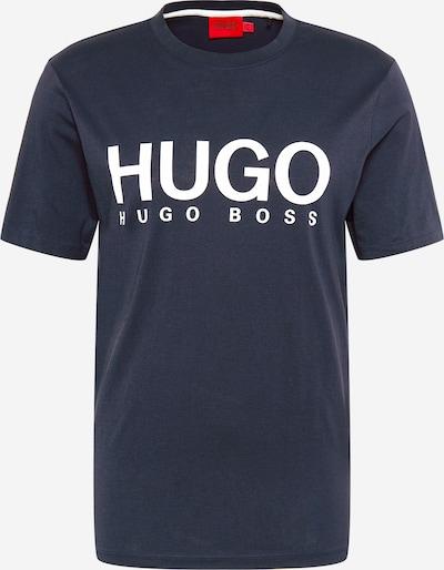 HUGO T-Shirt 'Dolive' en bleu foncé / blanc, Vue avec produit