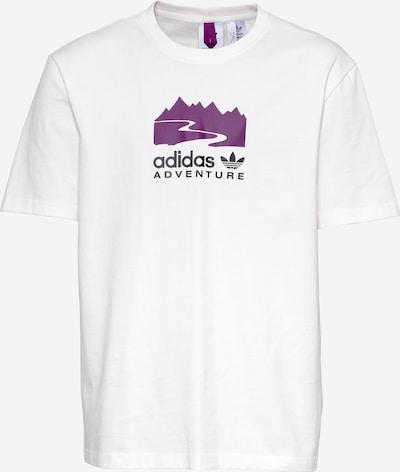 ADIDAS ORIGINALS Shirt in de kleur Lichtlila / Zwart / Wit, Productweergave