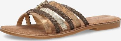 MEXX Pantolette 'EARLY' i brun / mörkbrun / silver, Produktvy
