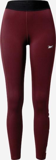 Pantaloni sport REEBOK pe roșu vin / negru / alb, Vizualizare produs