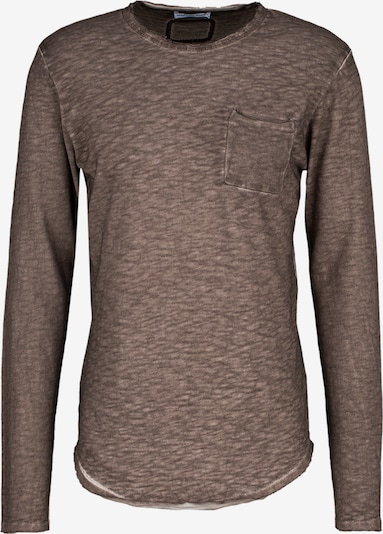 Young Poets Society Longsleeve  ' Chibs P. ' in braun, Produktansicht