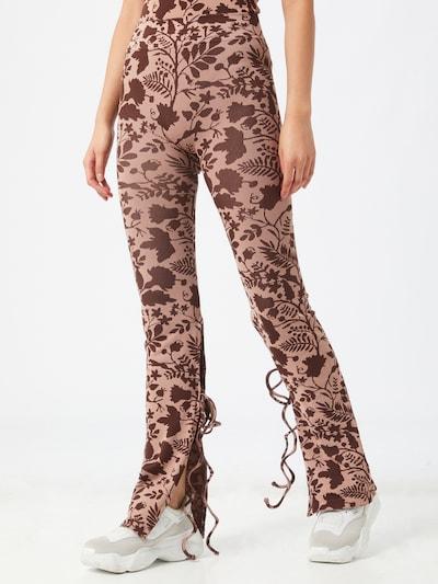 NU-IN Leggings in braun / pink, Modelansicht