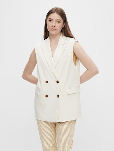 PIECES Uzvalka veste 'Monna', krāsa - balts, Modeļa skats