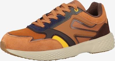 CAMEL ACTIVE Baskets basses en marron / jaune / orange, Vue avec produit