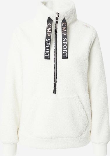 CMP Athletic Fleece Jacket in Black / Wool white, Item view