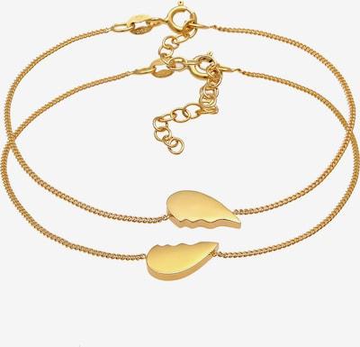ELLI Armband Herz in gold, Produktansicht