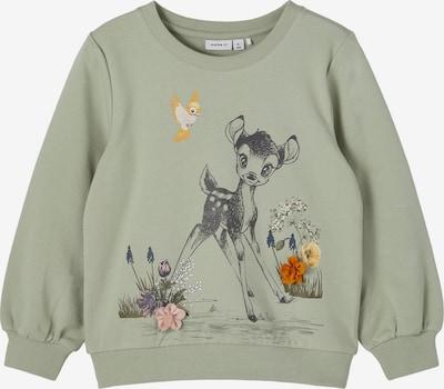 NAME IT Sportisks džemperis 'Bambi Frida' olīvzaļš / jauktu krāsu, Preces skats