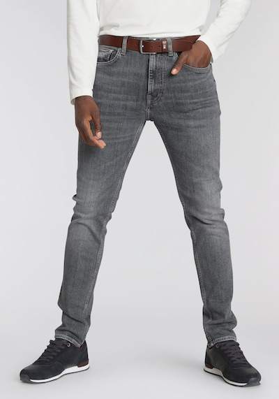 TOMMY HILFIGER TH Jeans Houston Tapered in black denim, Modelansicht