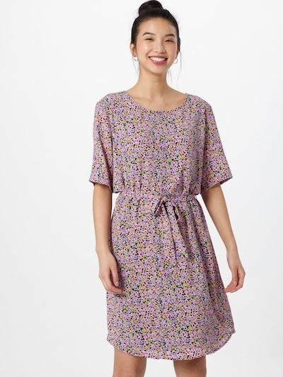 JACQUELINE de YONG Kleid 'AMANDA' in pastellgelb / mint / flieder / hellpink / schwarz, Modelansicht