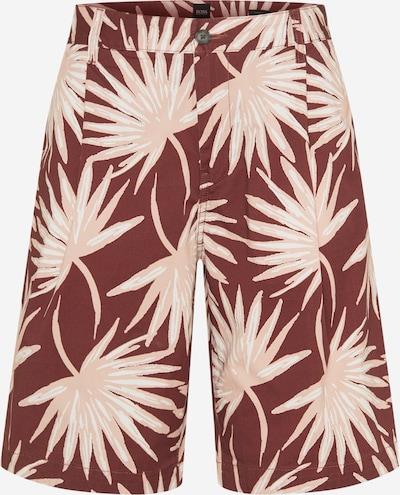BOSS Casual Панталон 'Samson' в ръждиво кафяво / капучино / бяло, Преглед на продукта