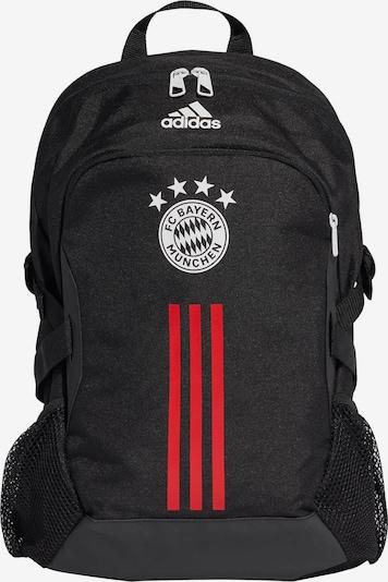 ADIDAS PERFORMANCE Rucksack 'FC Bayern München' in rot / schwarz / weiß, Produktansicht