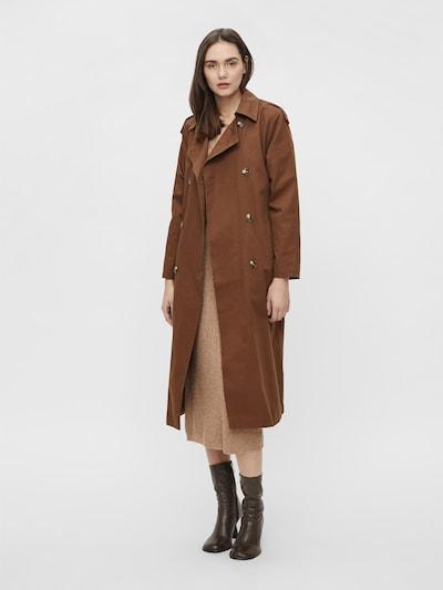OBJECT Ανοιξιάτικο και φθινοπωρινό παλτό 'OBJCLARA' σε καφέ, Άποψη μοντέλου