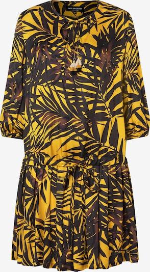 Ana Alcazar Boho Kleid 'Zabur' in gelb / schwarz, Produktansicht
