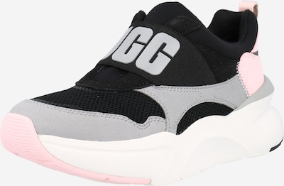 UGG Slip on -tennarit 'LA FLEX' värissä harmaa / vaalea pinkki / musta / valkoinen: Näkymä edestä