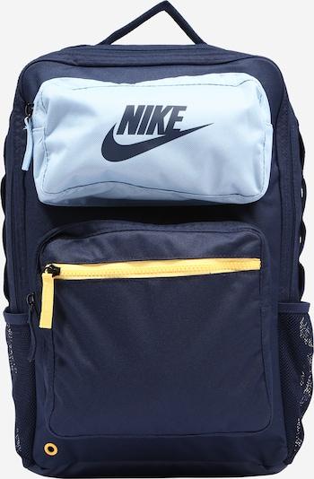Zaino Nike Sportswear di colore navy / blu chiaro / giallo, Visualizzazione prodotti