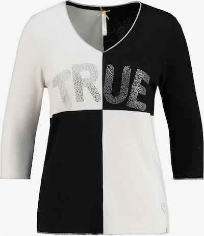 Key Largo Pullover 'CHESS' in schwarz / weiß, Produktansicht