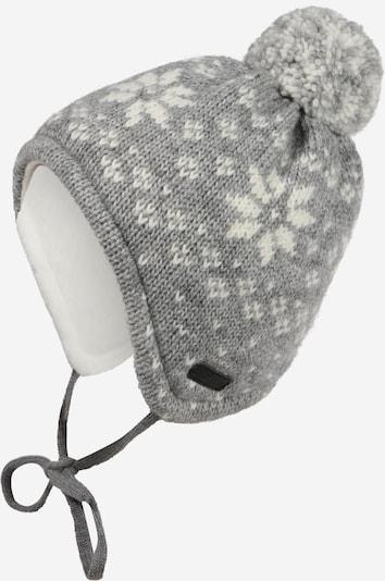 MAXIMO Mütze in grau / wollweiß, Produktansicht