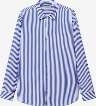 MANGO MAN Button Up Shirt 'Nantes' in marine blue / White, Item view