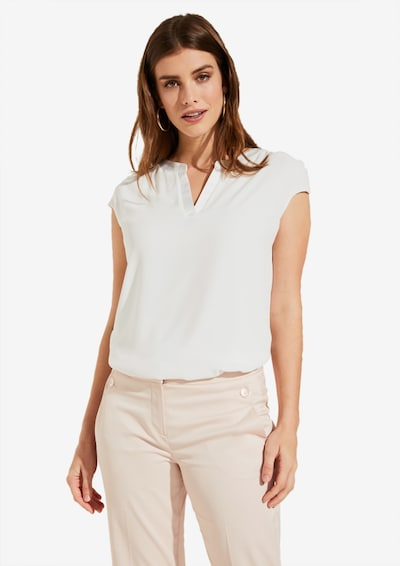 COMMA Shirt in offwhite: Frontalansicht