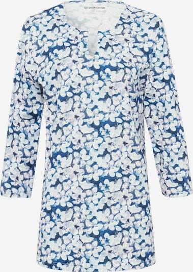 Green Cotton Shirt in blau / weiß, Produktansicht