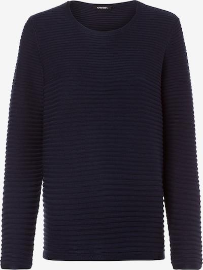 Olsen Rundhalspullover mit horizontaler Strickstruktur in navy, Produktansicht