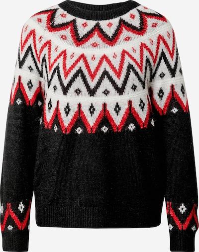 s.Oliver Pullover in rot / schwarz / weiß, Produktansicht