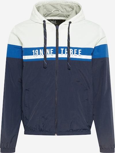 INDICODE JEANS Veste mi-saison 'Charnwood' en bleu marine / bleu roi / blanc, Vue avec produit
