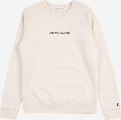Calvin Klein Jeans Sweatshirt i beige / sort: Frontvisning