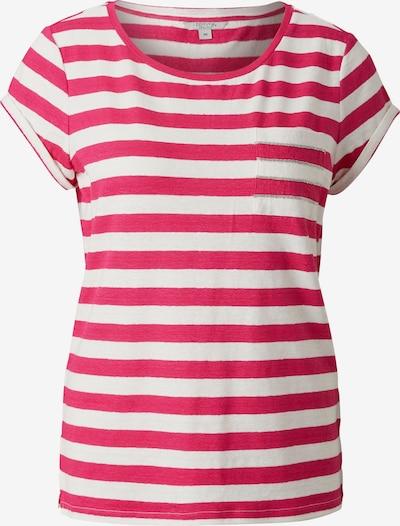 Ci comma casual identity Shirt in dunkelpink / weiß, Produktansicht