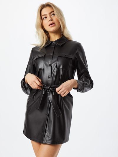 ONLY Blusenkleid 'Ruma' in schwarz: Frontalansicht