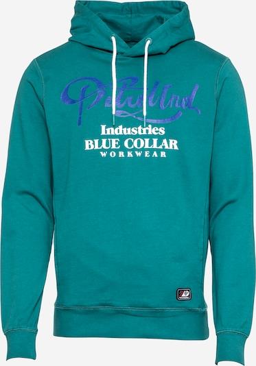 Petrol Industries Sweatshirt in de kleur Blauw / Jade groen / Wit, Productweergave