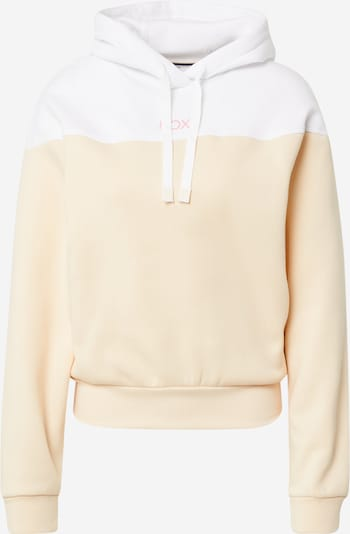 ROXY Sweat de sport 'ITS IN THE MUSIC' en abricot / blanc, Vue avec produit