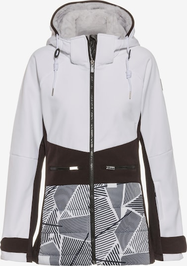 ICEPEAK Funktionsjacke 'Ely' in grau / schwarz / weiß, Produktansicht