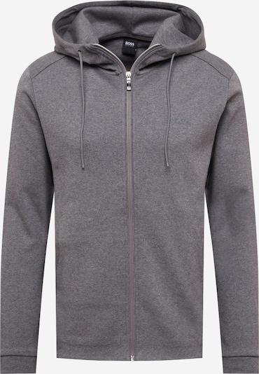 BOSS ATHLEISURE Zip-Up Hoodie 'Saggy' in mottled grey, Item view