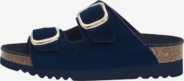 SCHOLL Slippers 'ILARY VELVET' in Blue