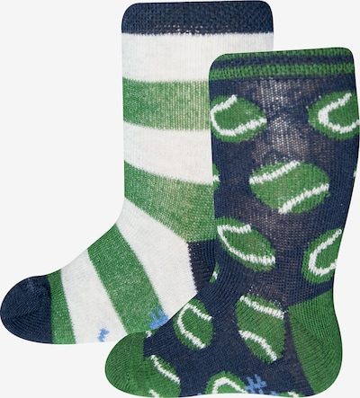 SANETTA Socken in nachtblau / hellblau / grasgrün / weiß, Produktansicht