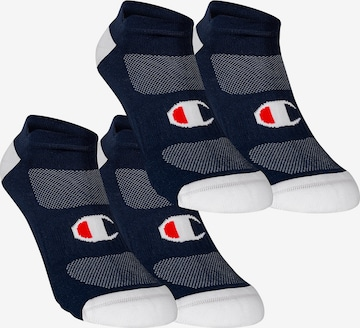 Champion Authentic Athletic Apparel Sneakersocken ' 4er-Pack No Show Socks Performance ' in Blau