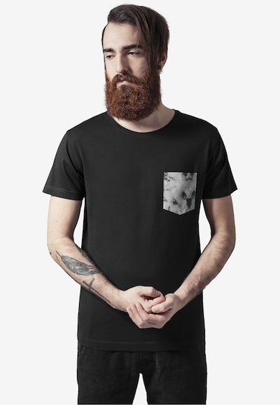 Urban Classics Shirt 'Contrast Pocket' in de kleur Grijs: Vooraanzicht