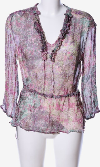 Lucky Brand Seidenbluse in S in khaki / lila / pink, Produktansicht