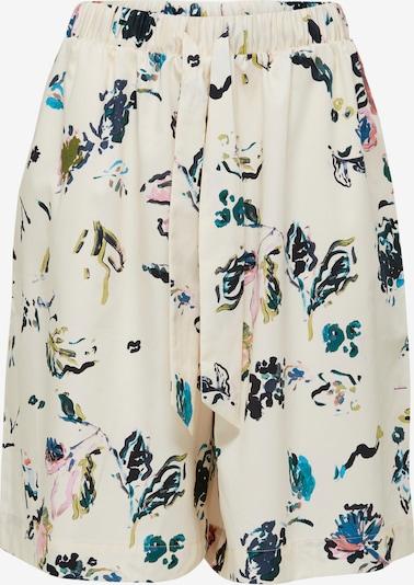 SELECTED FEMME Pantalon 'Garden' en crème / marine / pétrole / roseau / orchidée, Vue avec produit