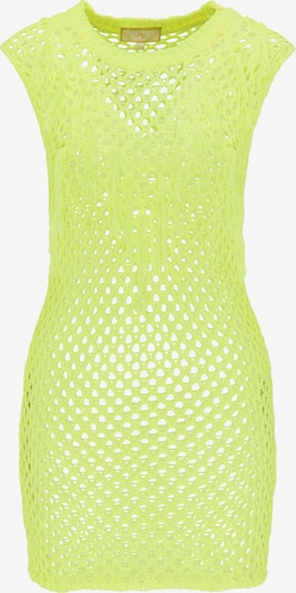 MYMO Strandjurk in de kleur Neongeel, Productweergave