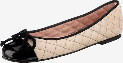 PRETTY BALLERINAS Ballerina in creme / schwarz, Produktansicht