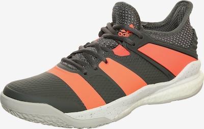 ADIDAS PERFORMANCE Handballschuh 'Stabil X' in grau / orange / schwarz / weiß, Produktansicht