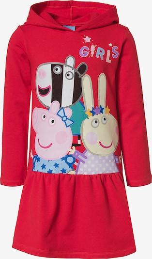 Peppa Pig Kleid in mischfarben / rot: Frontalansicht